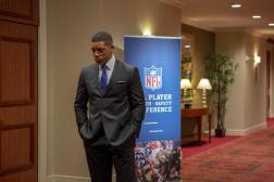 "This photo provided by Columbia Pictures shows, Will Smith as Dr. Bennet Omalu, in a scene from Columbia Pictures' ""Concussion."" The movie releases in U.S. theaters on Dec. 25, 2015. (Melinda Sue Gordon/Columbia Pictures via AP)"