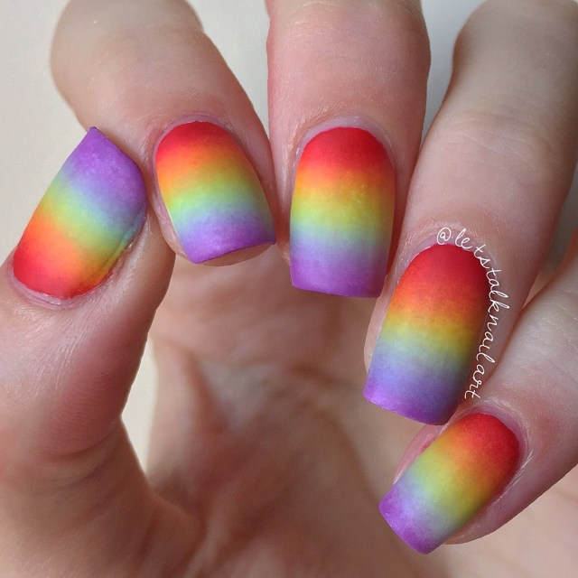 lgbt pride nails rainbow gradient