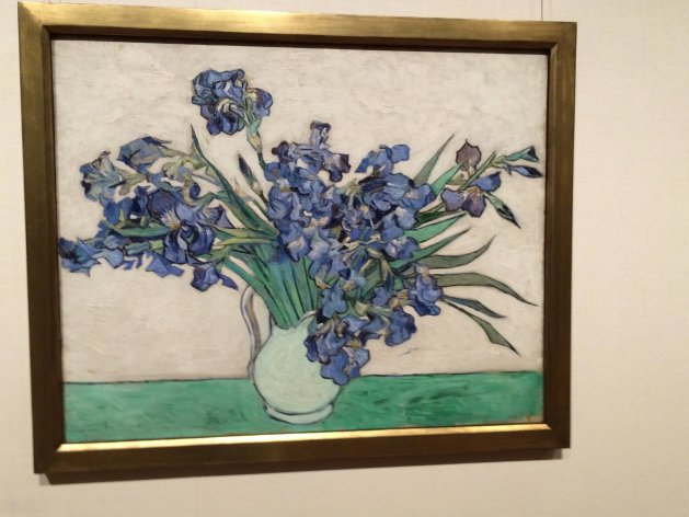 "Van Gogh, Irises, 1890, oil on canvas, 29"" x 36 1/4"" (73.7 cm x 92.1 cm), Metropolitan Museum of Art, NYC"