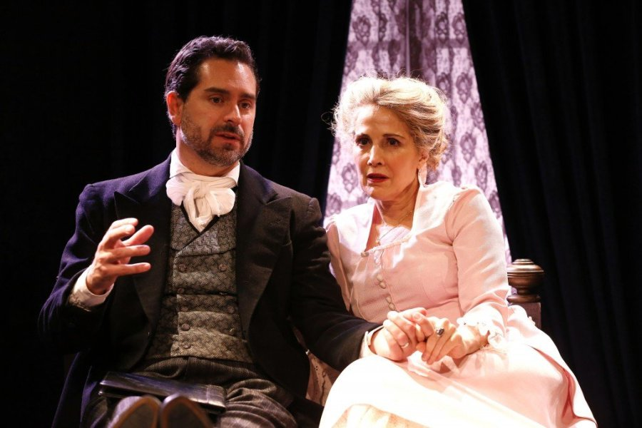 Jean Lichty at the early feminist NORA, and Todd Gearhart as her husband, Torvald in Bergman's NORA after Ibsen's A Doll's House