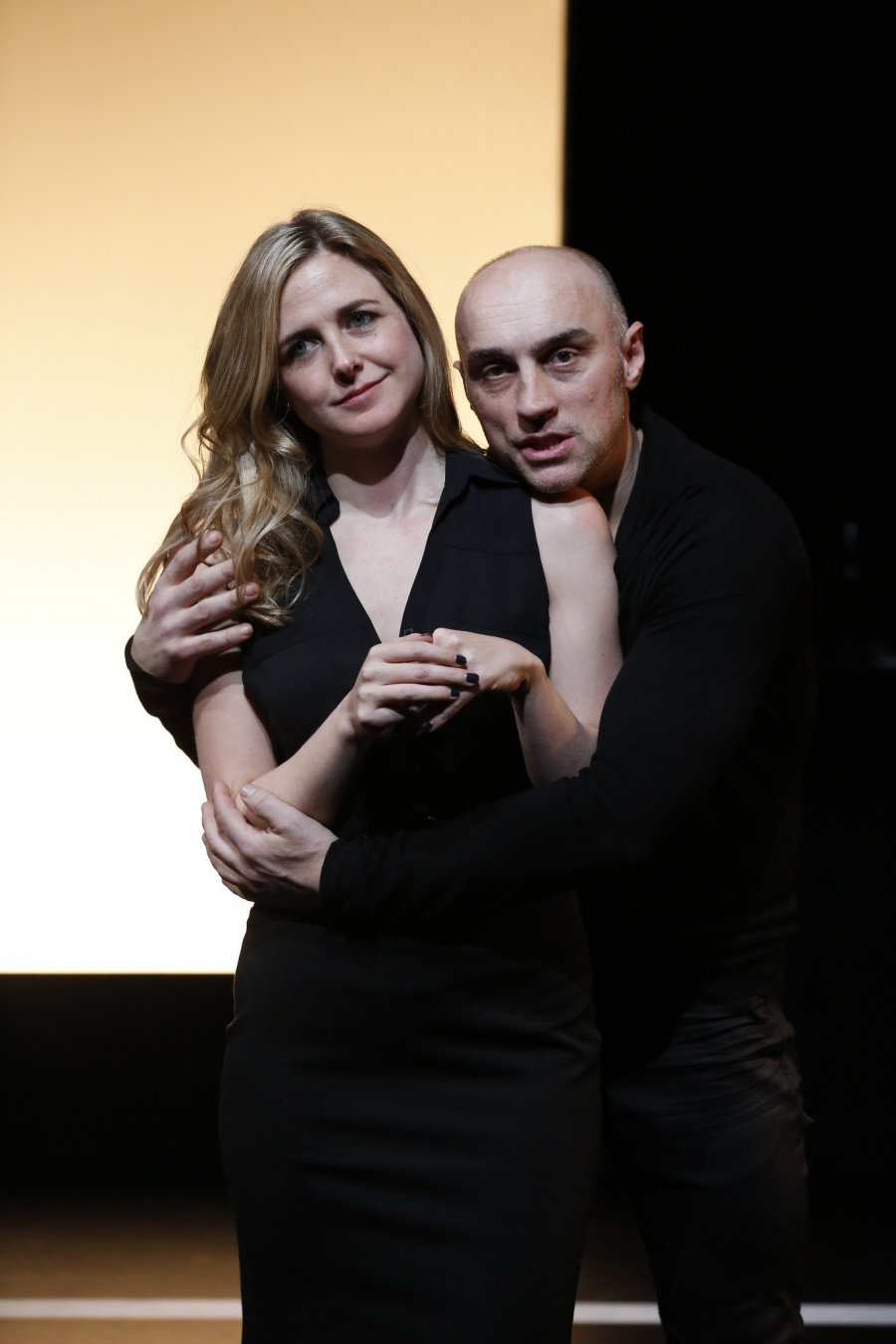 Clea Alsip and Tony Maumovski in Wide Awake Hearts at 59E59 Theaters, January 2016