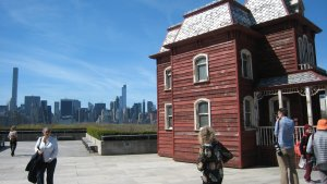 Cornelia Parker, Transitional Object (PsychoBarn), site specific installation on roof of Metropolitan Museum, summer 2016