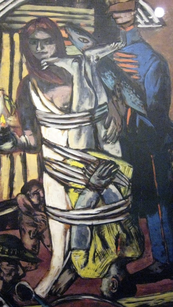 Max Beckmann, Departure, right panel
