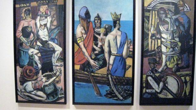 Max Beckmann, Departure, triptych, o/c, 2932-2933, Museum of Modern Art, New York