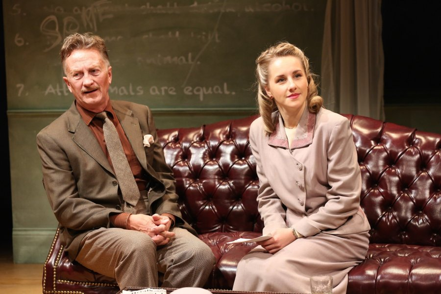 Jamie Horton as George Orwell and Jeanna de Waal as Carlotta Morrion in Orwell in America by Joe Sutton