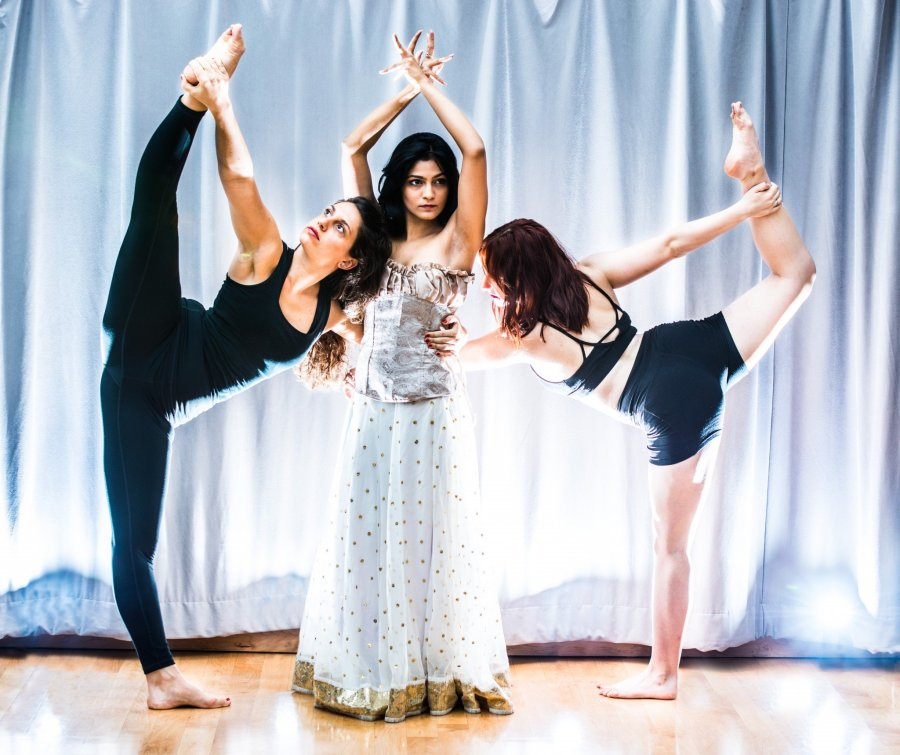 East meets West: rehearsing for Devdas in production of Hypokrit Theatre Company and Junoon Performing Arts