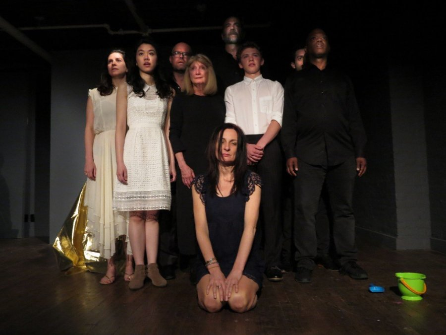 Cast of Antigone by Jean Anouilh, adapted merging text and opera by Eilin O'Dea. Translated by Lewis Galantiere