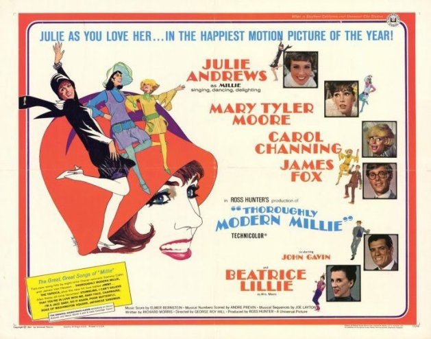 Ad for the movie Thoroughly Modern Millie in 1967.