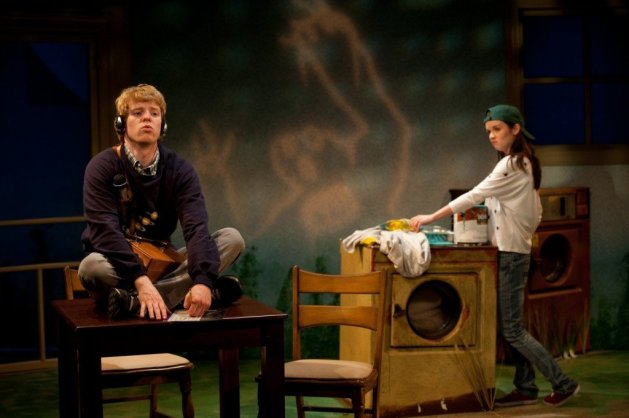 Ben Hollandsworth as Ryan and Reyna De Courcy as Elsie in <em>Dreams of the Washer King</em>.Photo: Eric Pearson