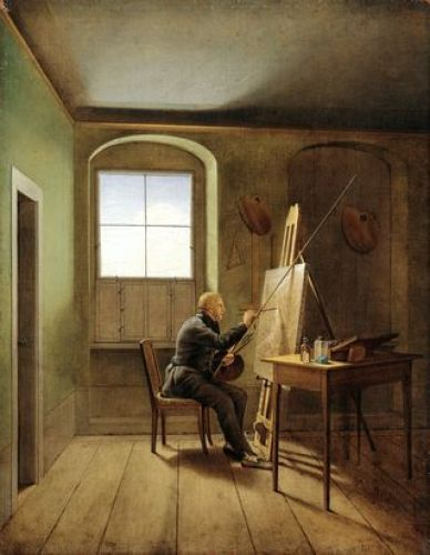 Kersting_Caspar | David Friedrich in his Studio