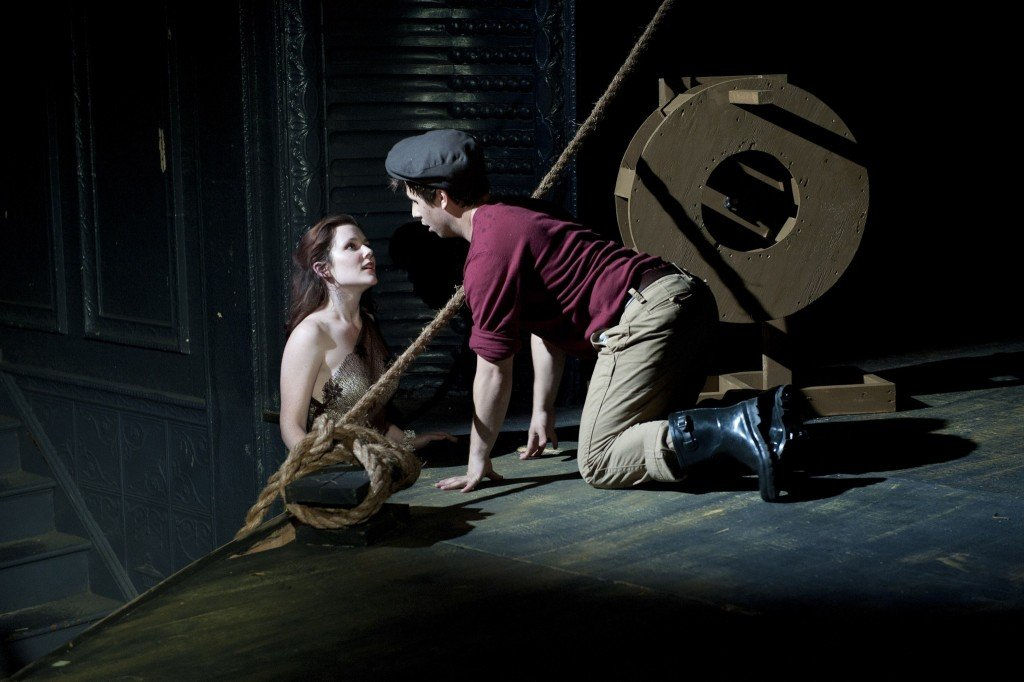 Benj Mirman as Felix and Allison Smith as the mermaid. Photo: Ahron R. Foster