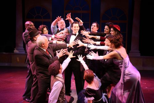 Josh Grisetti and the cast of Enter Laughing, The Musical.  Photo by Jerry Lamonica