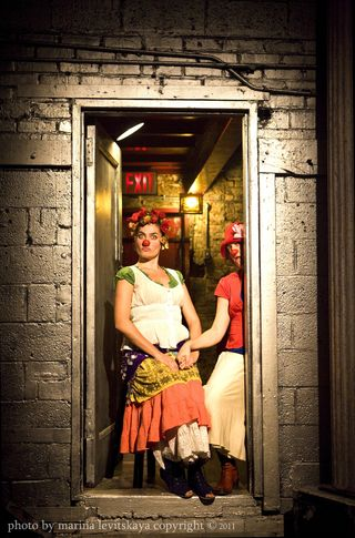 Meet Frida Kahlo.  L Diane Lovrin and R Carla Bosnjak.  Photo:  Marina Levitskaya