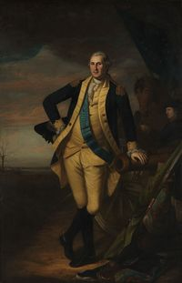 George Washington – seeming as if alive as in this painting by Charles Willson Peale