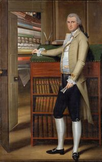 the fabric seller, Elijah Boardman, painted near in time by Ralph Earl