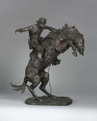 Frederic Remington's Bronze sculpture Broncho Buster