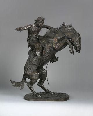 Frederic Remington's Bronze sculpture Broncho Buster