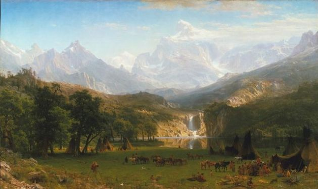 Albert Bierstadt, The Rocky Mountains, Landers Peak, 1863, oil on canvas, 73 1/2 x 120 3/4 in. 186.7 x 306.7 cm