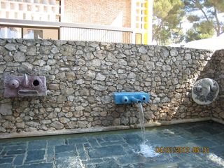 Miro's Labyrinth wall spout