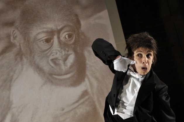 Kathryn Hunter in Kafka's Monkey.  Photo:  Keith Pattison