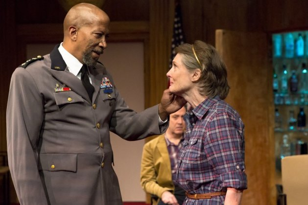 Reg E. Cathey as Pontius and Annette O'Toole as Mary,   Photo Hunter Canning