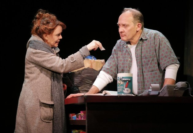Deirdre O'Connell as the Woman and Zach Grenier as the Man. Photo Joan Marcus