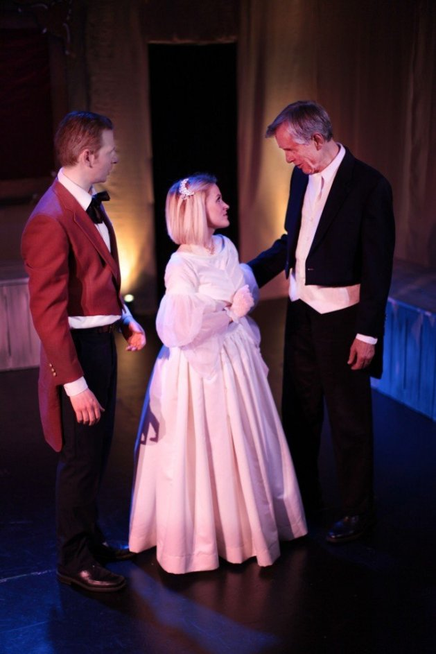 L-R Eyal Scherf as Rodolphe, Hayley Hoffmeister as Emma, Roger Rathburn as Charles. Photo: Andrew Nuzhnyy