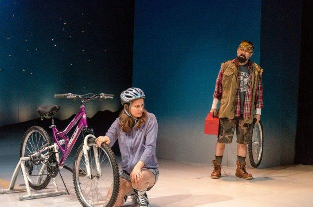 Jessica DiGiovanni (Penny) and David Shih (Matt with the Van).  Photo Web Begole.
