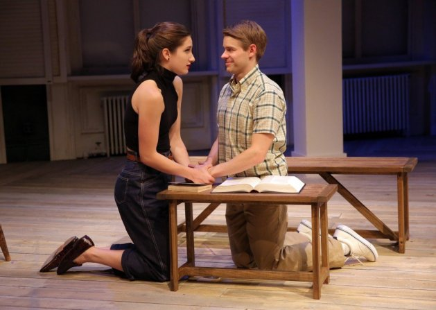 Molly Nordin and Andrew Keenan-Bolger. Photo Joan Marcus