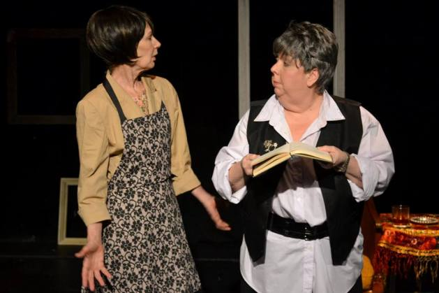 L-R Penny Lynn White as Alice B. Toklas and Maggie Wirth as Gertrude Stein.  Photo: Samantha Mercado Tudda