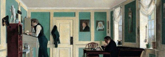 Wilhelm Bendz | Interior from Amaliegade |Artist's Brothers