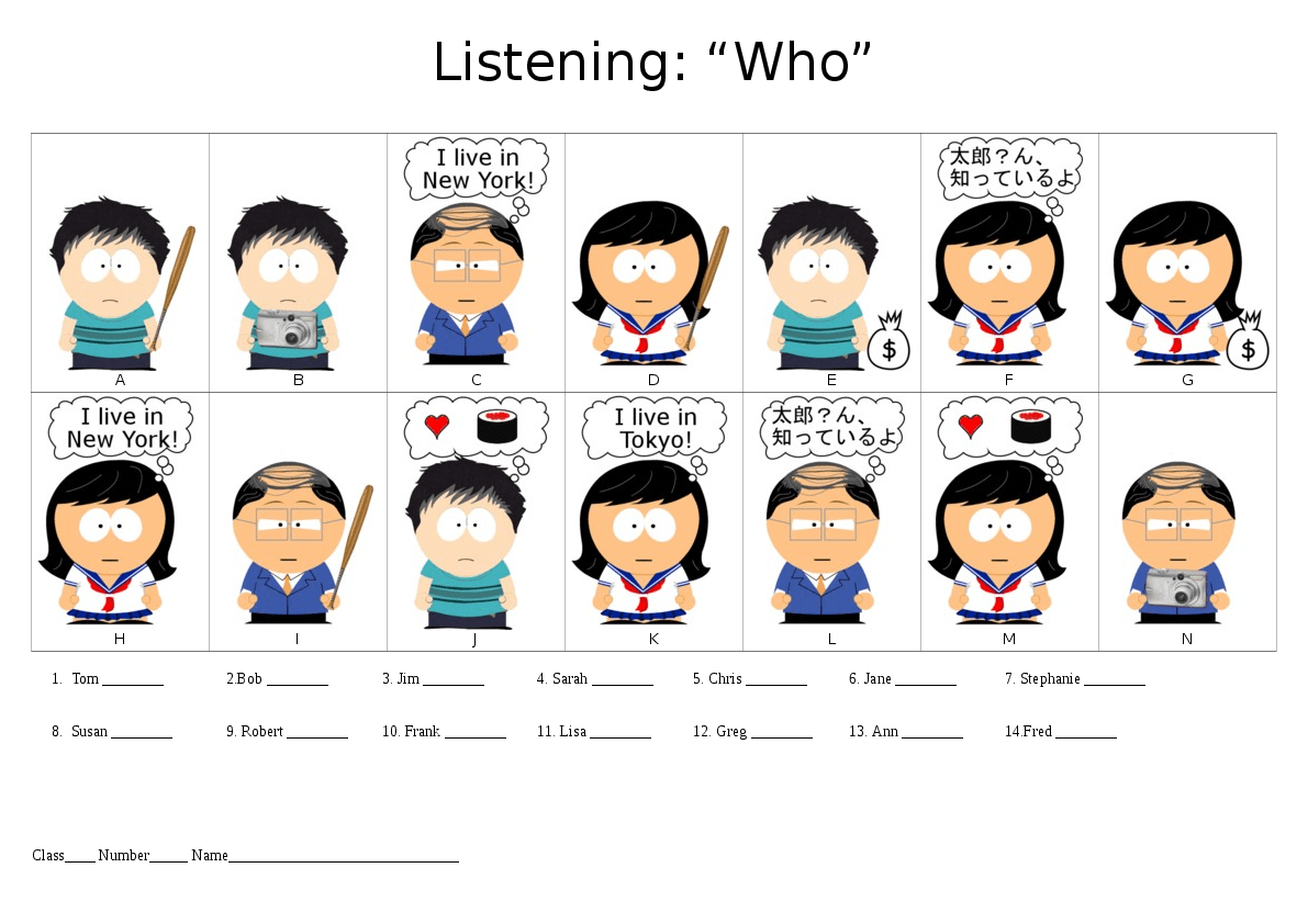 Let S Teach English Relative Pronoun Listening Practice