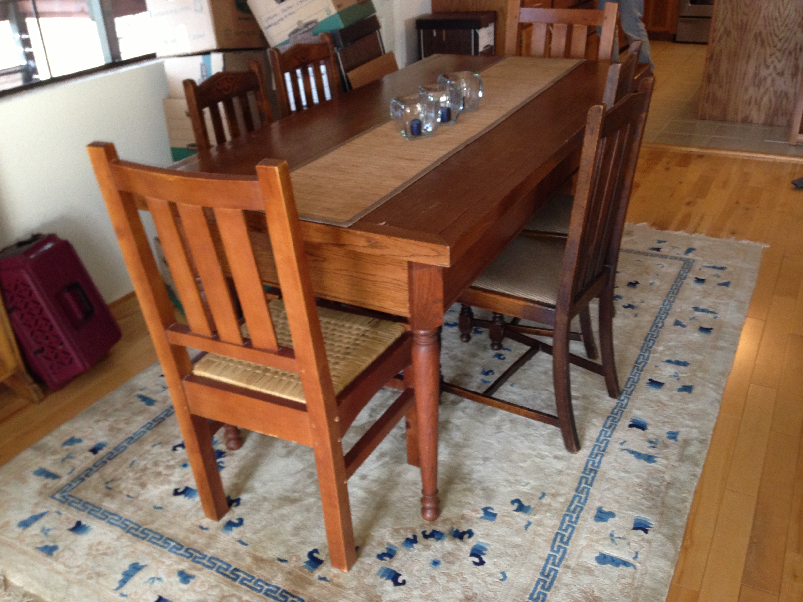 antique kitchen table equipment used mission style 1450 san francisco trading blog img 0906