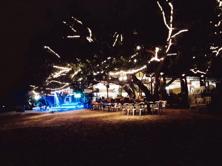 a restaurant on Sairee beach, Thailand.