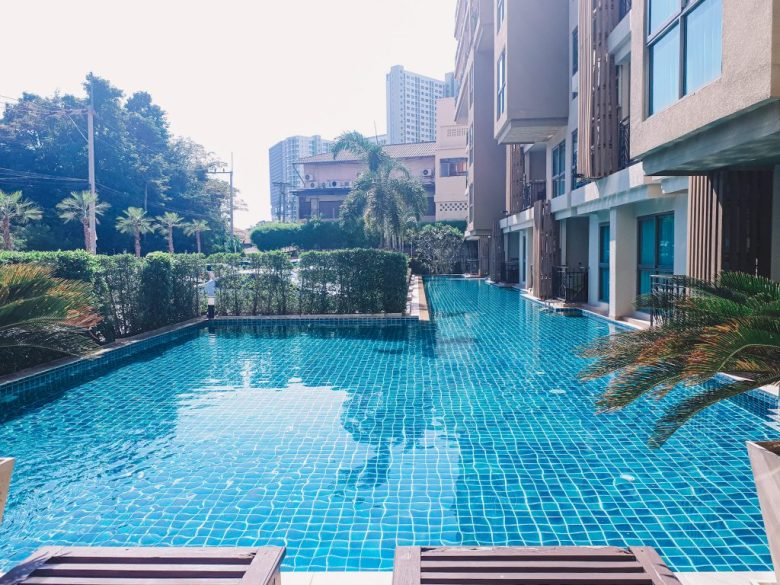condominium with pool in Pattaya City, Thailand.