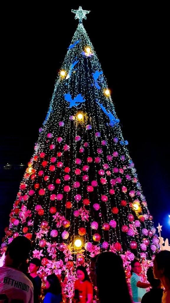 Big Christmas tree in Bangkok Thailand