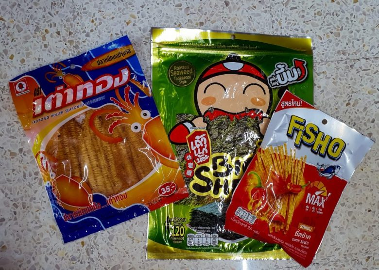 some of the seafood snacks that is enjoyed by many of the locals in Thailand