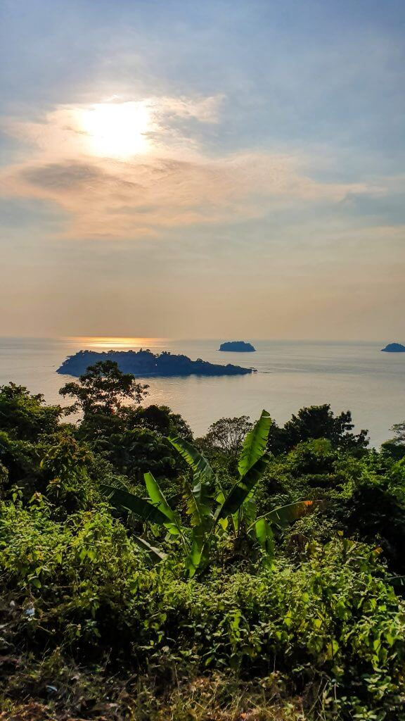 view point on koh Chang island in the east of Thailand