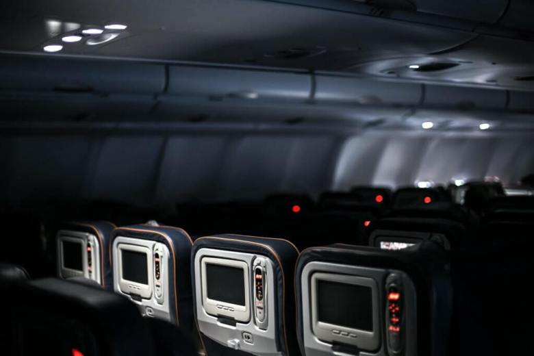 In-flight entertainment in an airplane