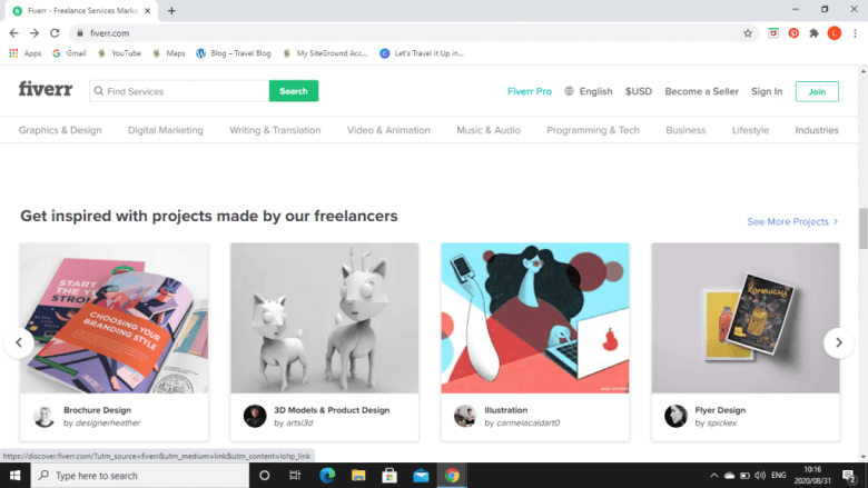 Fiverr is a platform for freelancers. It is an easy way to make money online while doing that you are passionate about