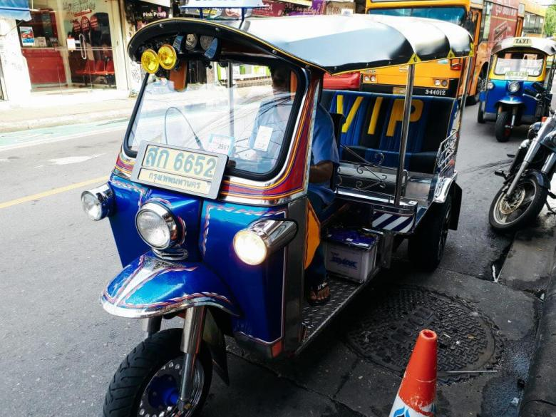 a Tuk Tuk that you can ask to take you around the city of Bangkok