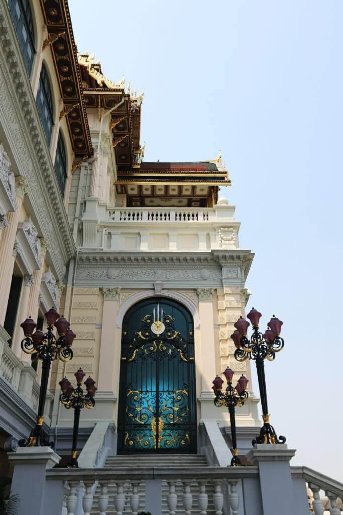 some of the beautiful architecture of the Grand palace in Bangkok