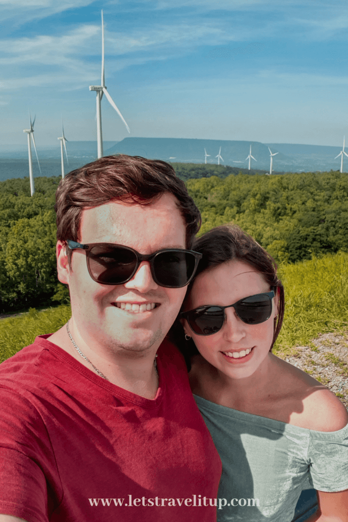 Let's Travel it up viewing the wind turbines here in Khao Yai Thailand