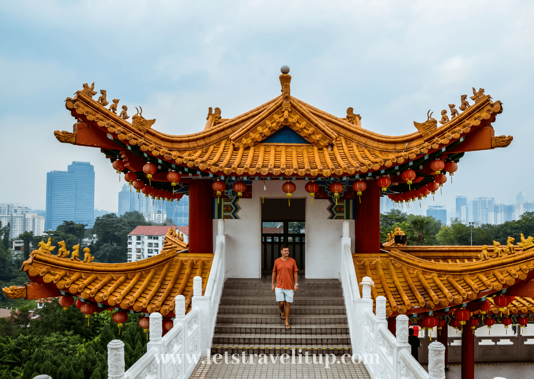 Thean Hou Temple is a Chinese temple located on the outskirts of Kuala Lumpur city in Malaysia