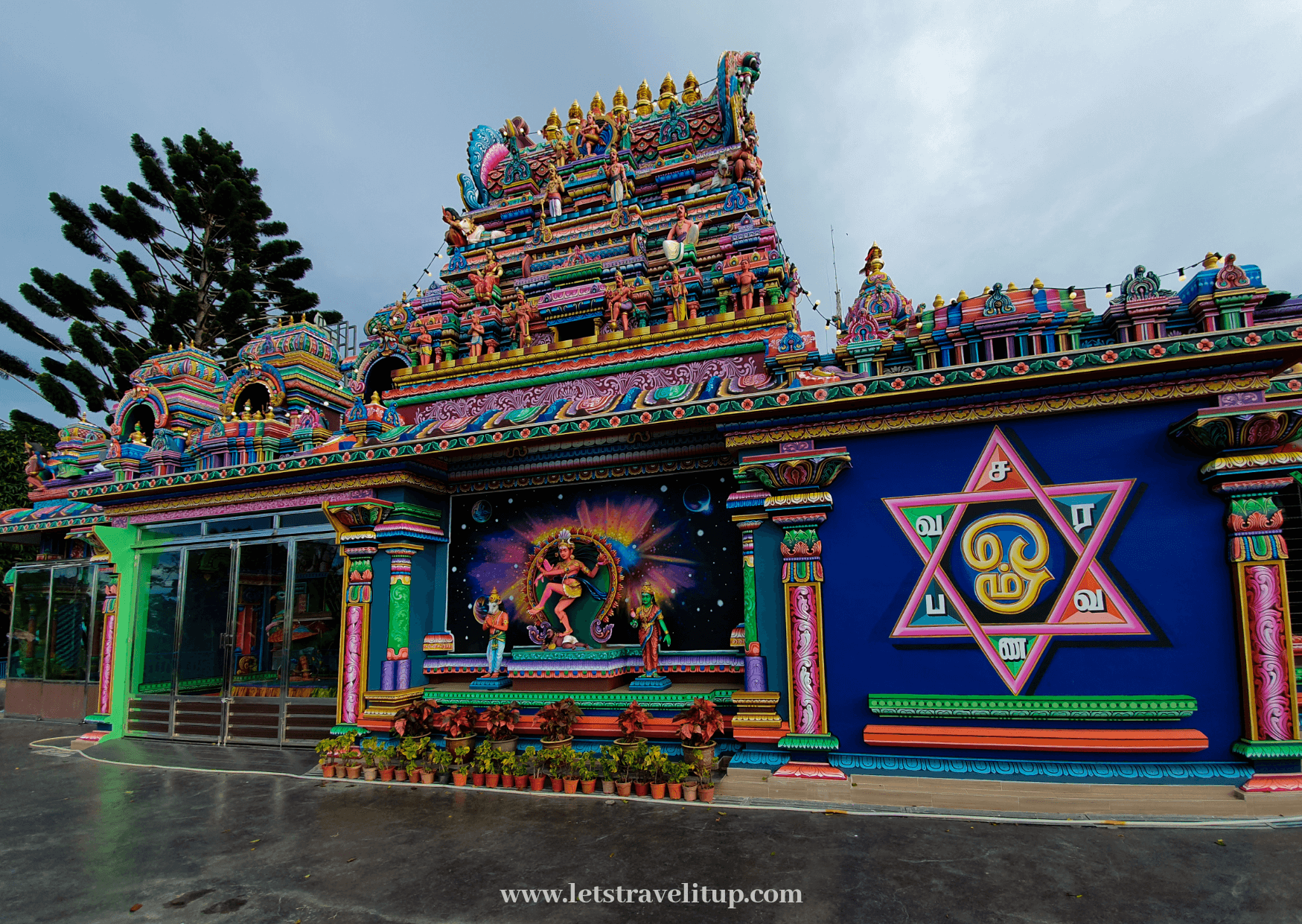 a hindu temple thats built ontop of Penang Hill, that can be visited when you are travelling around Penang Island.