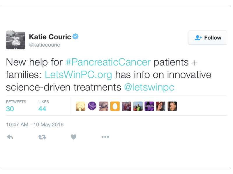Twitter and Facebook: Follow Let's Win and Learn About Innovative Science-driven Treatments