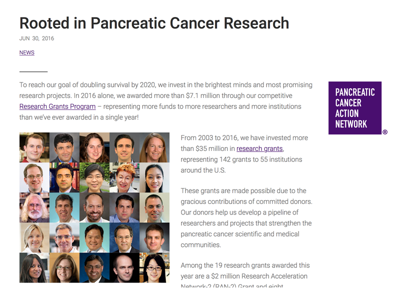 Funding Opportunities for Pancreatic Cancer Research