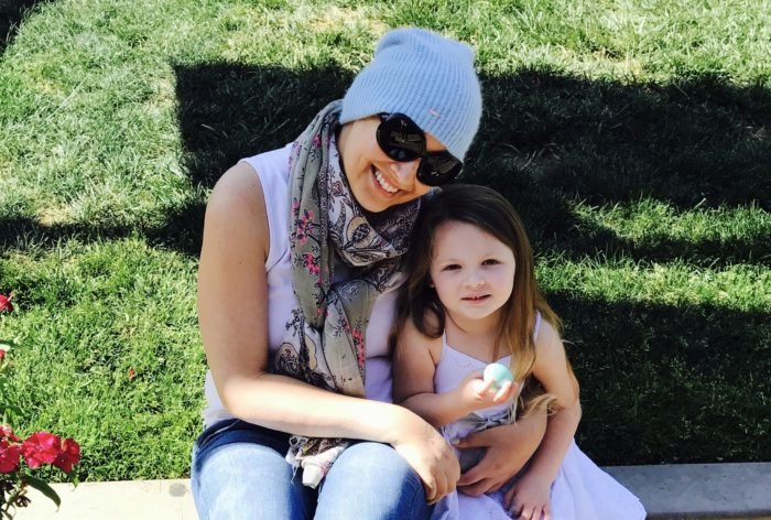 Pancreatic cancer patient Rachel Santmyer Flores and her daughter