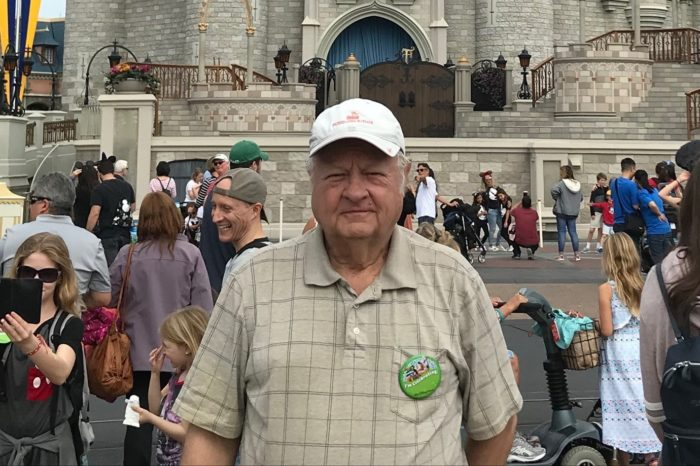 Earl Groce pancreatic cancer patient at Disney World