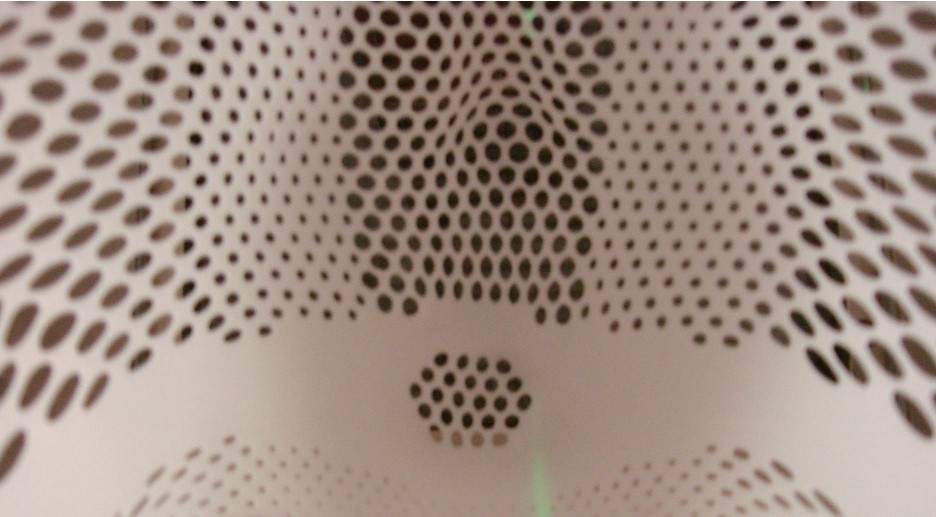 White net mask in close up